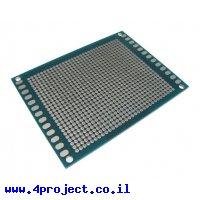 """לוח הלחמה דו-צדדי 60x80 מ""""מ - חורים 2.0 מ""""מ"""
