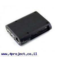 מארז פלסטיק לכרטיסי Raspberry PI 3 - שחור מעוגל