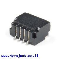 מחבר JST-SH 4 Pin בזווית - SMD