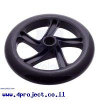"""גלגל סקייטים 200x30 מ""""מ - שחור"""