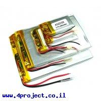 סוללה - LiPoly 3.7V/90mAh/2C
