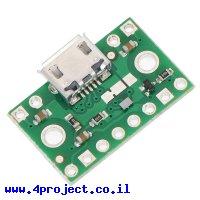 כרטיסון עם בורר מתח FPF1320 וחיבור USB MicroB