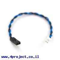 מחבר גישור 2 נקבה ל-JST 2 pin