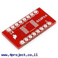כרטיסון מתאם בין SSOP ל-DIP 16pin