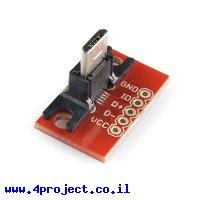 כרטיסון עם מחבר USB MicroB זכר