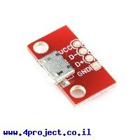 כרטיסון עם מחבר USB MicroB נקבה - גרסה קודמת