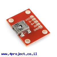 כרטיסון עם מחבר USB MiniB נקבה - SparkFun
