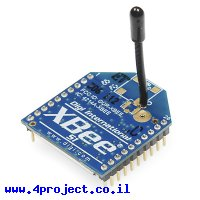 מודול תקשורת XBee S1 1mW - אנטנת חוט