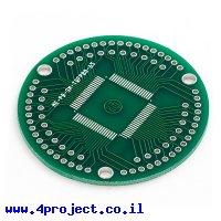 כרטיסון מתאם ל-TQFP 80pin 0.65mm