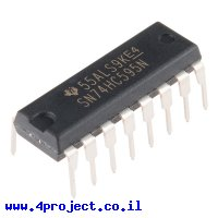 שבב הזזה 8bit Serial In/Parallel Out 74HC595
