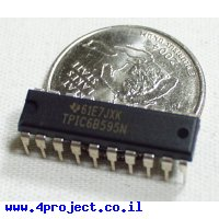 שבב הזזה 8bit Serial In/Parallel Out TPIC6B595 - זרם גבוה